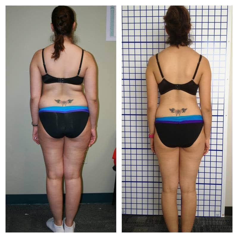 Antes e depois da dieta vegana